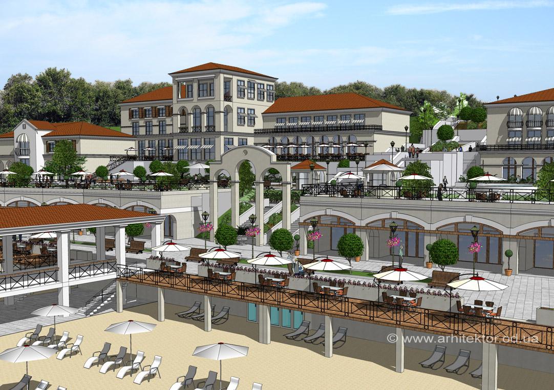 Пляж Отрада г. Одесса проект реконструкции