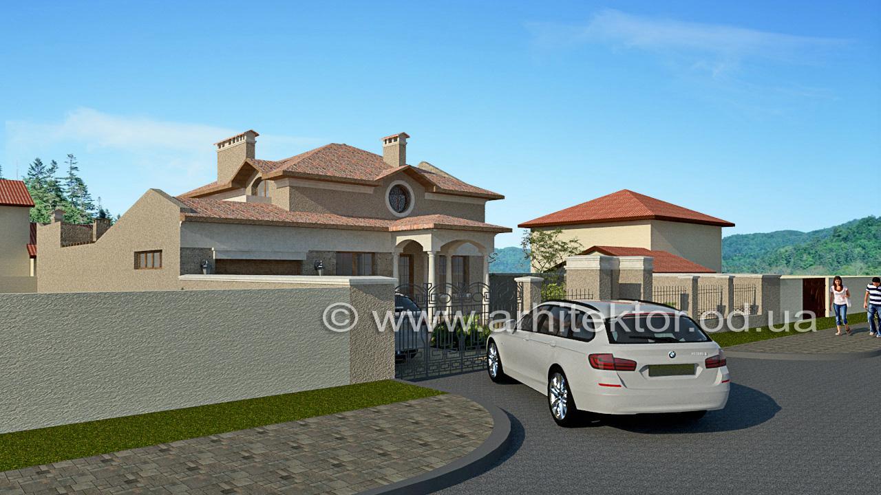 Архитектурный проект дома средиземноморский стиль