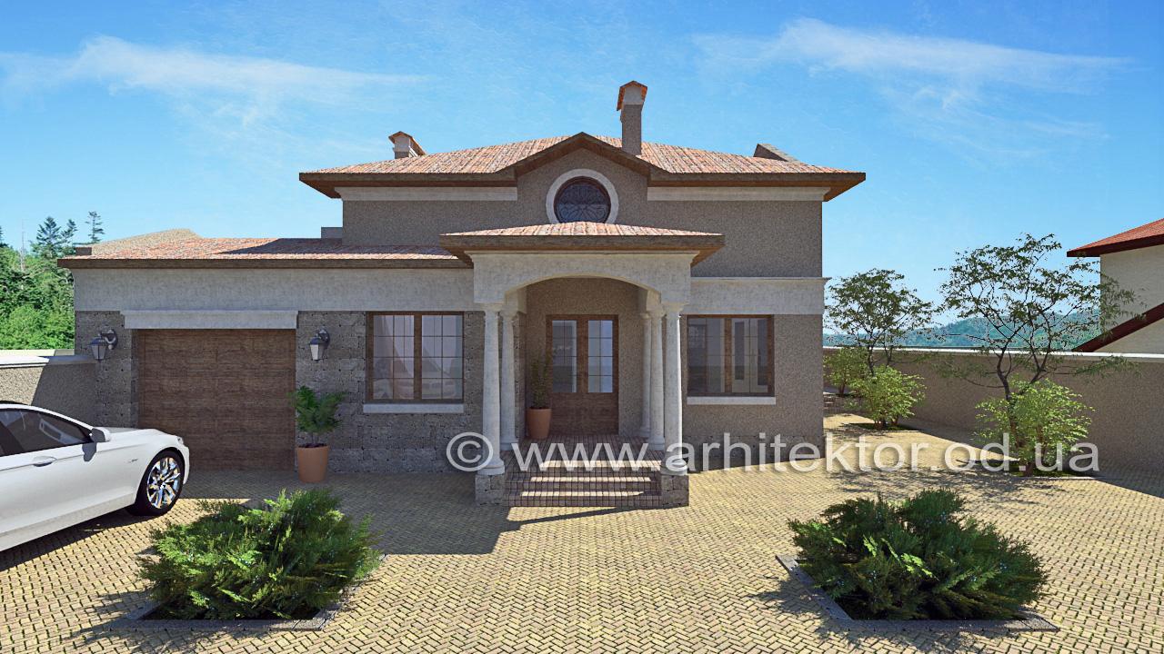 Архитектурный проект дома с мансардой в Черноморске