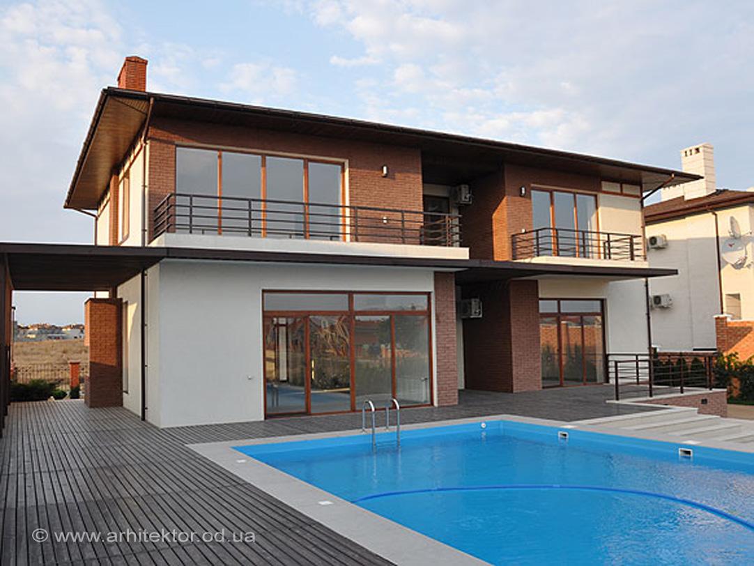 Двухэтажный жилой дом в жилмассиве Совиньон архитектурный проект