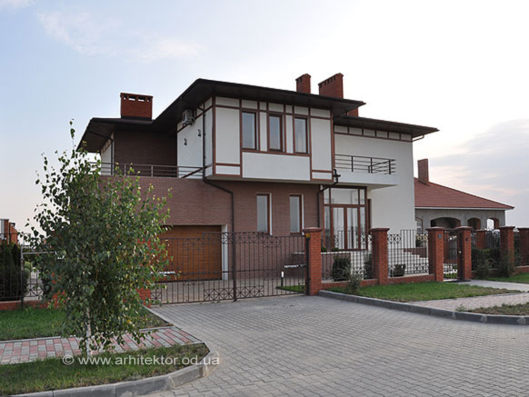 Двухэтажный жилой дом в жилмассиве Совиньон рабочий проект