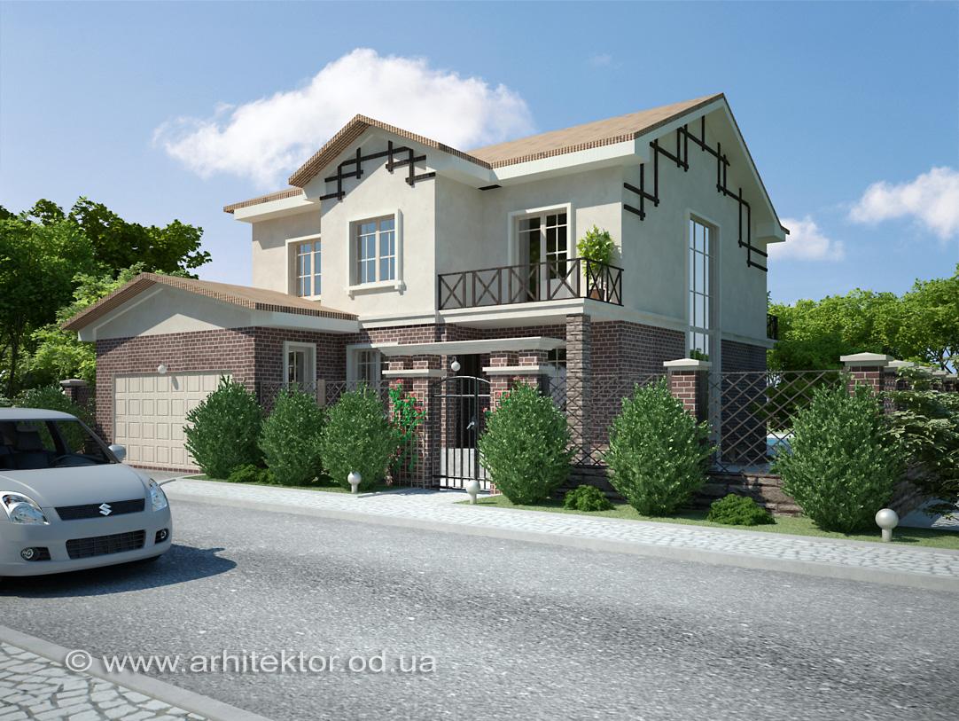 Жилой дом в пгт Авангард архитектурный проект