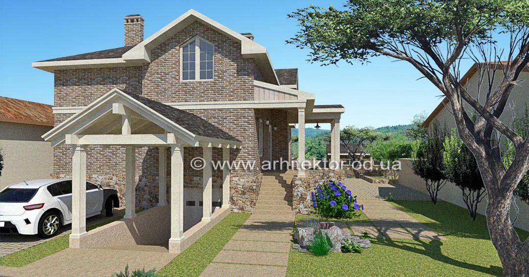 Эскизный проект Фермерский дом