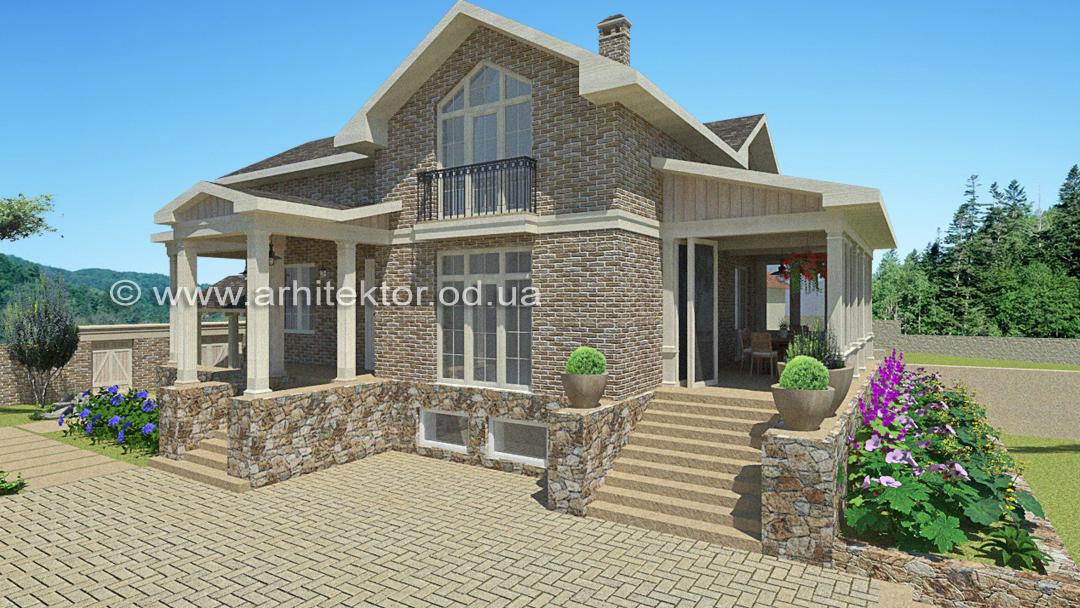 Готовый проект дома Фермерский дом