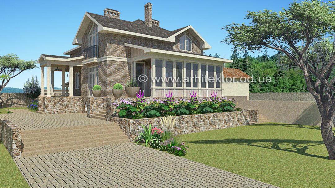 Загородный фермерский дом