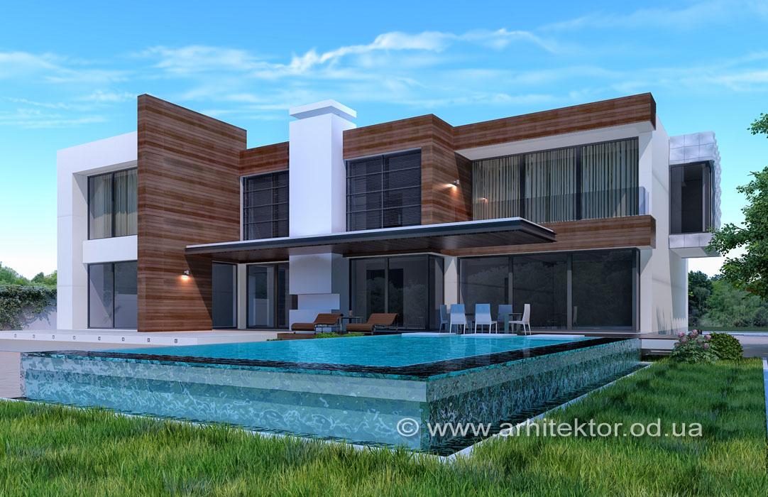Рабочий проект двухэтажного дома в коттеджном поселке «Сосновый берег»
