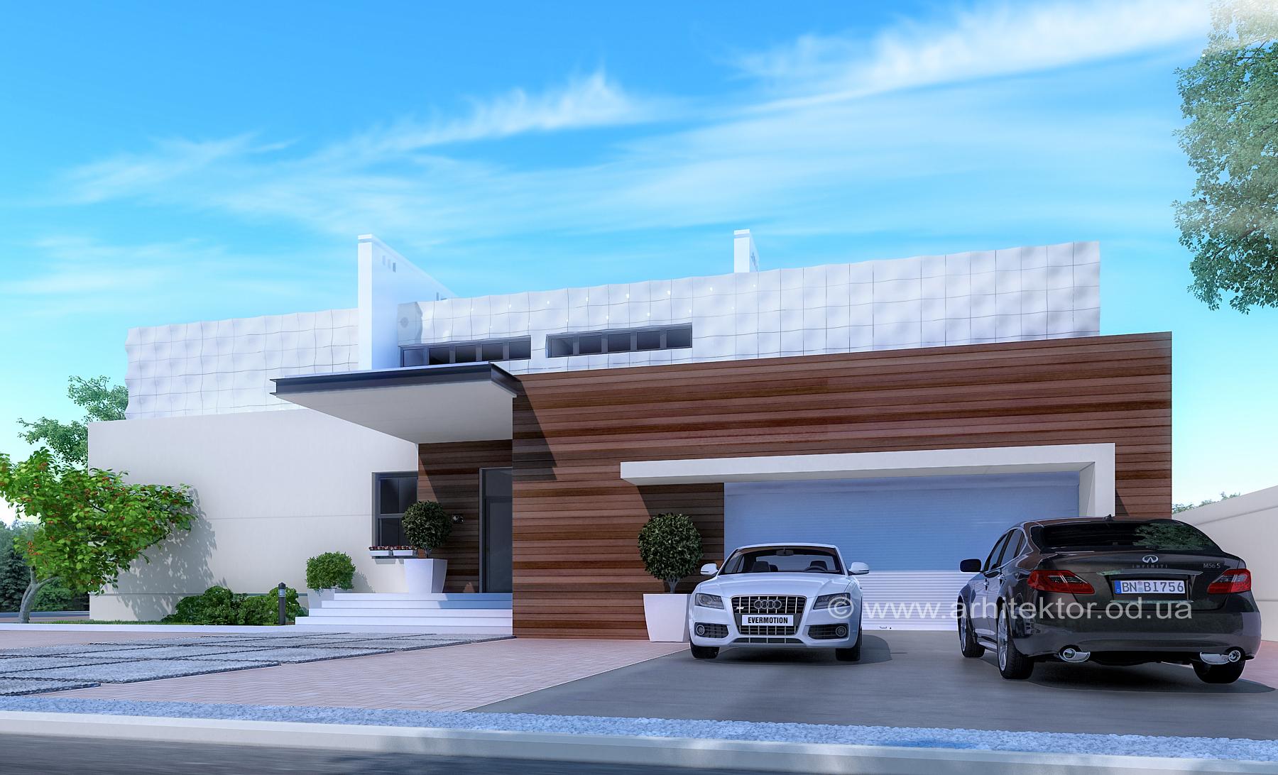 Архитектурный проект двухэтажного дома в коттеджном поселке «Сосновый берег»