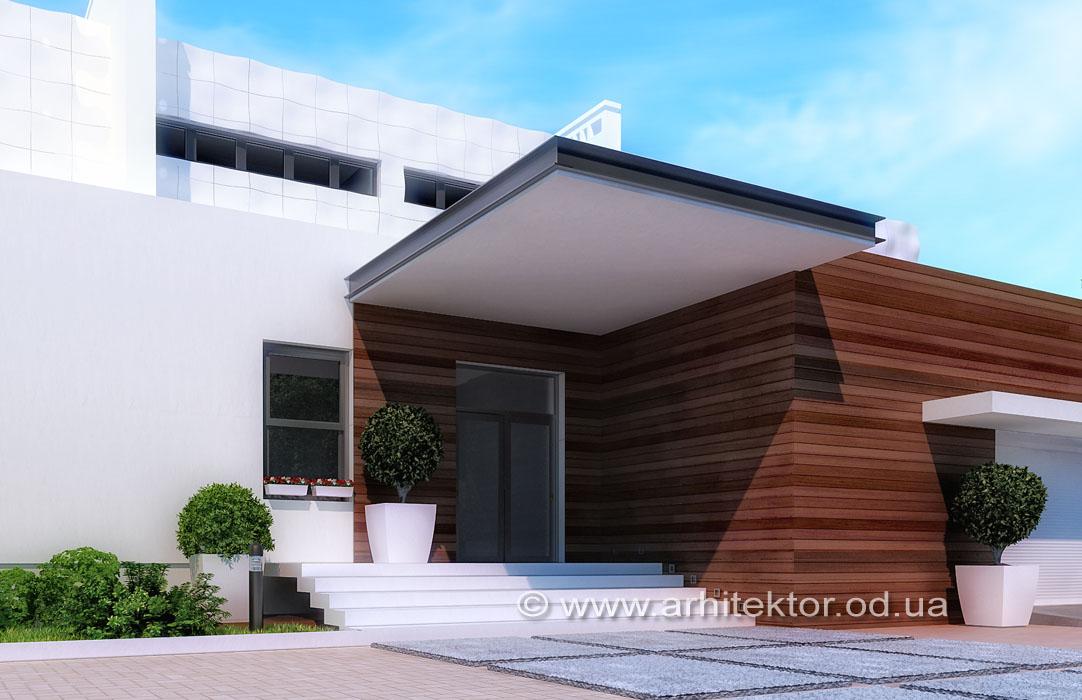 Готовый проект двухэтажного дома в коттеджном поселке «Сосновый берег»