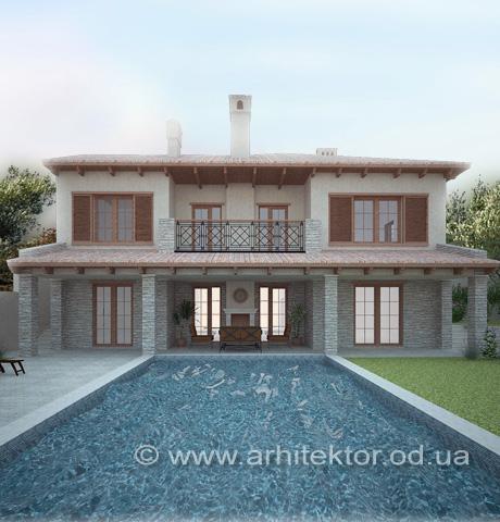 Проект дома в тосканском стиле - Портфолио