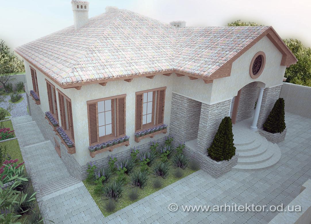 Тосканский стиль в архитектурном проекте
