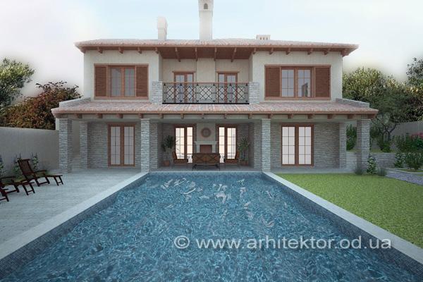 Проект дома в тосканском стиле - Описание
