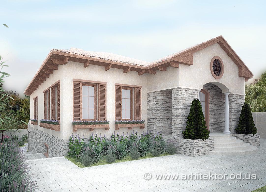 Проект дома в тосканском стиле
