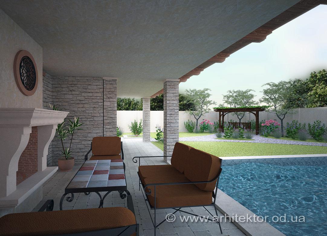 Готовый проект дома в тосканском стиле