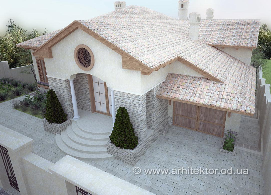 Индивидуальный жилой дом в тосканском стиле