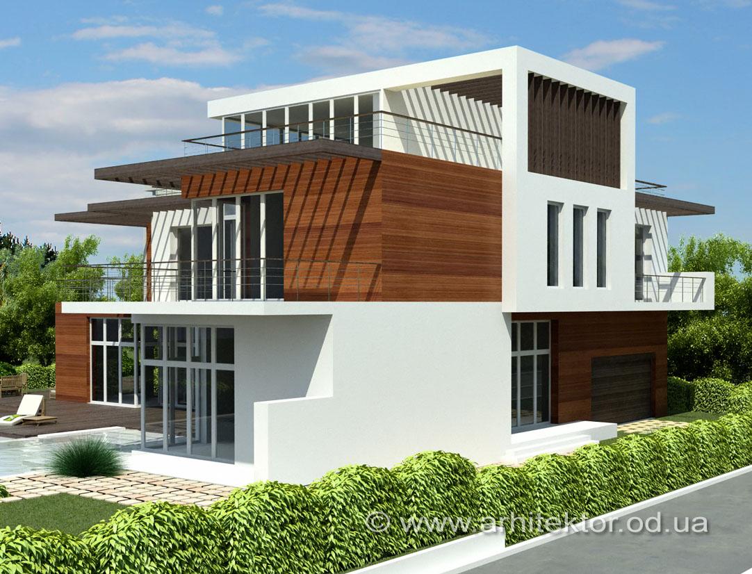 Архитектурный проект двухэтажного дома в Одесской области