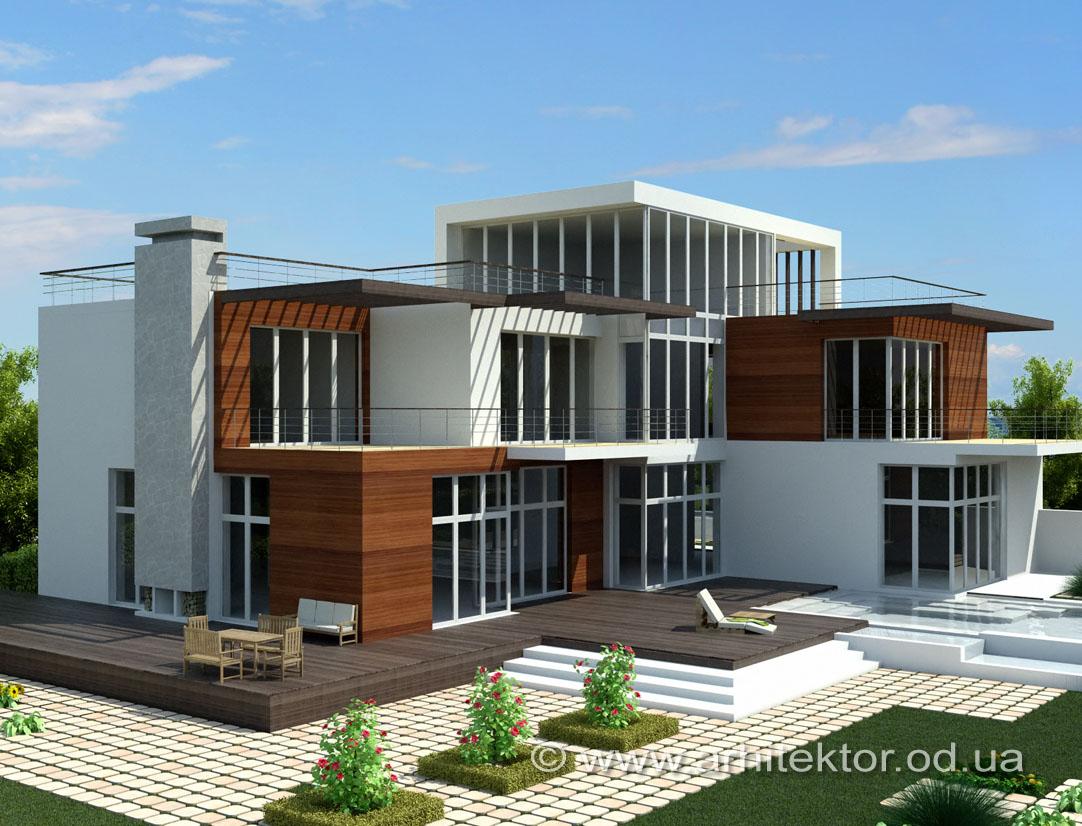 Эскизный проект двухэтажного дома в Одесской области