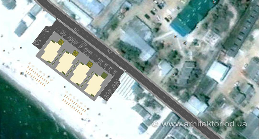 Генеральный план базы отдыха в пгт. Затока