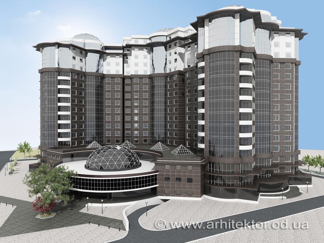 Архитектурный проект Бизнес-центра г. Одесса