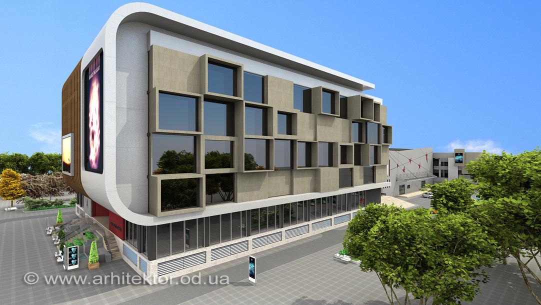 Архитектурный проект реконструкции кинотеатра Звездный г. Одессе