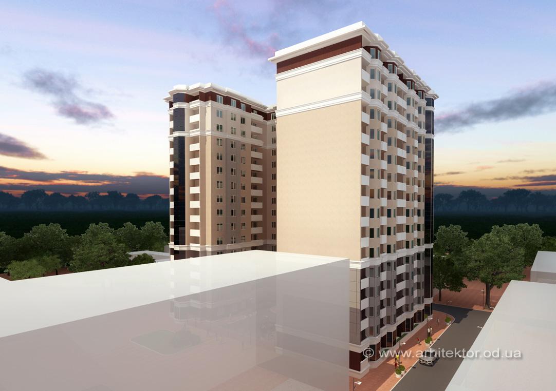 Проект жилого комплекса с подземным паркингом Одесса