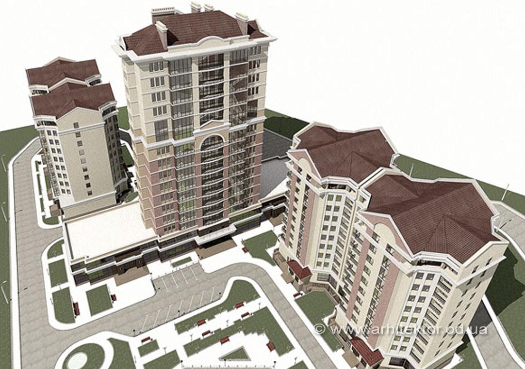 Архитектурный проект жилого комплекса Исток в Трускавце