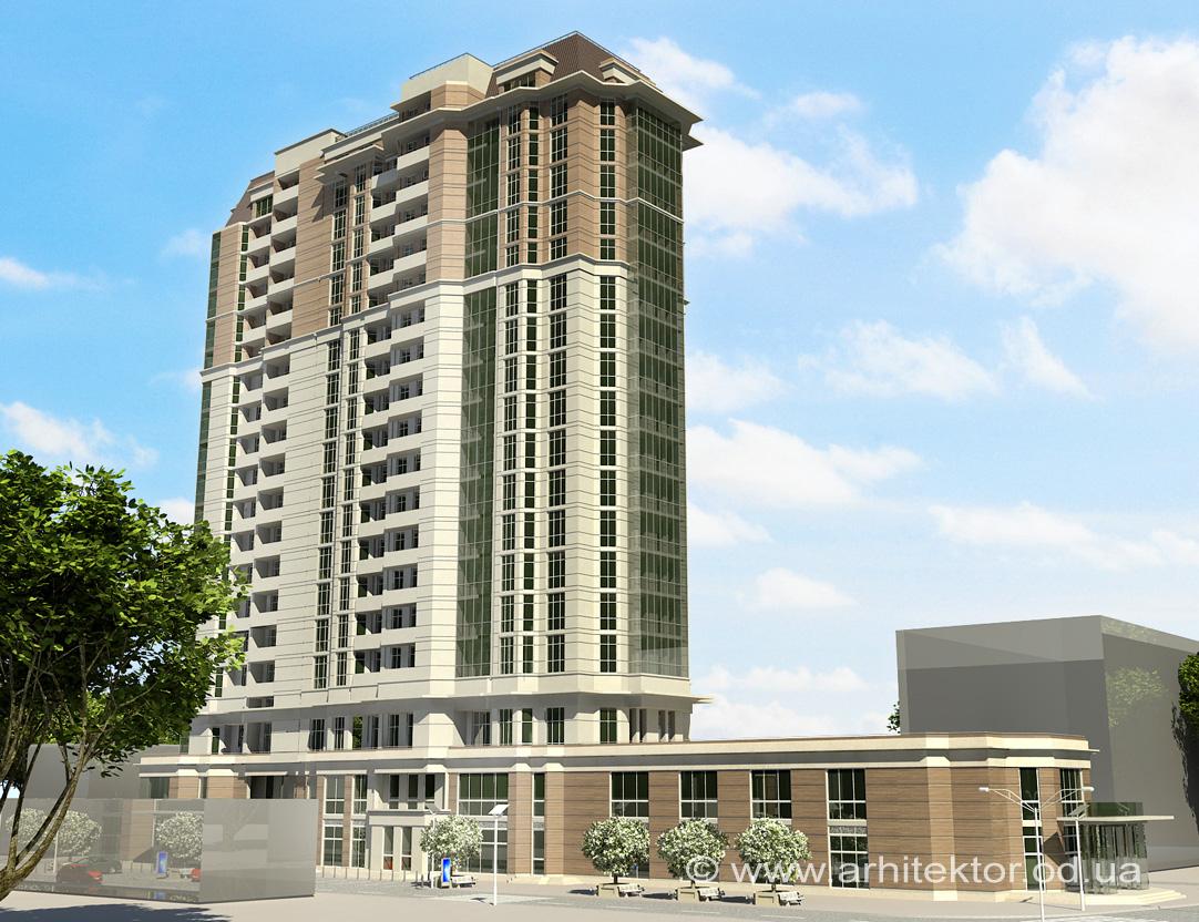 18 этажный жилой комплекс с общественно-развлекательным центром г. Кировоград