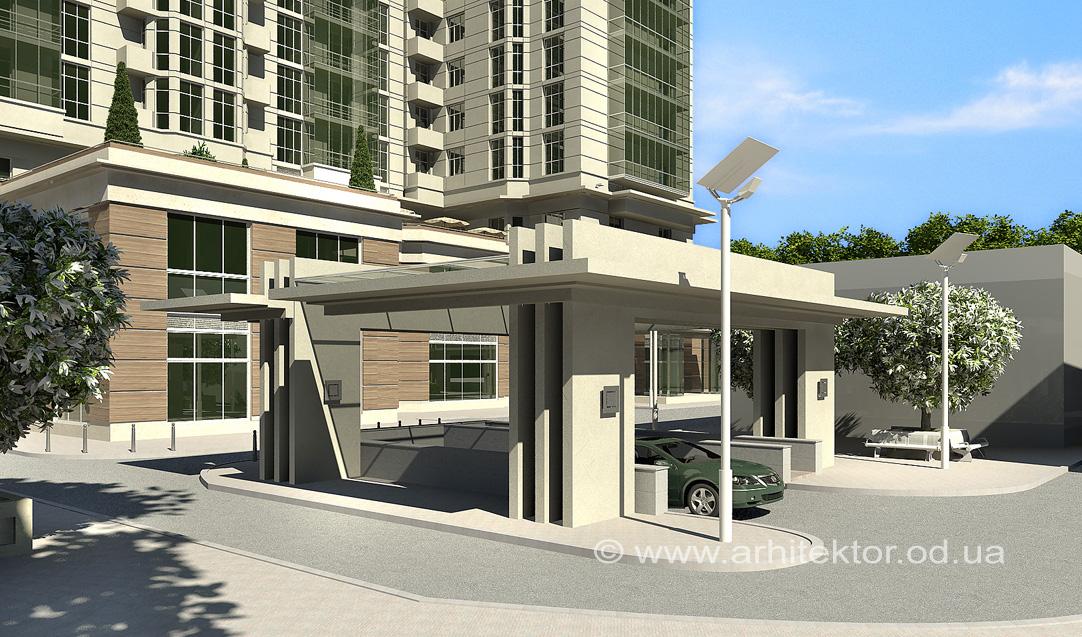 многоэтажный жилой комплекс с общественно-развлекательным центром г. Кировоград