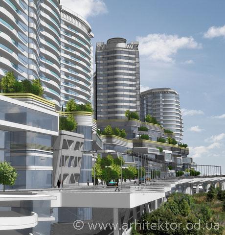 Жилой комплекс с общественным центром пгт. Гаспра - Портфолио
