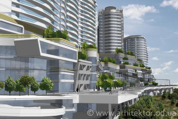 Жилой комплекс с общественным центром пгт. Гаспра - Описание